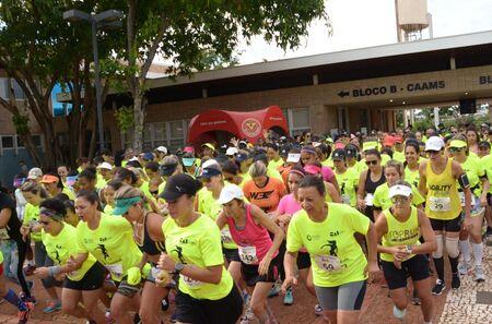 Mais de 300 mulheres participaram neste domingo em Campo Grande, da 12ª Edição da Corrida e Caminhada Feminina, em comemoração ao Dia Internacional da Mulher