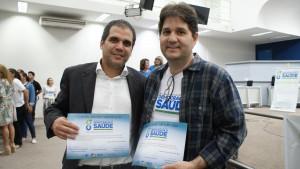 O secretário adjunto, Rogério Souto e o secretário de Saúde, José Mauro Filho.