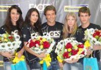 (Da esqueda para a direita) Wanussa, Bruna Picolo, Kaiky Brito, Bruna Silva e Bruno Rodrigues