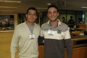 Os canoístas Rafael Girotto e Gustavo Figueiró, ambos de Mato Grosso do Sul