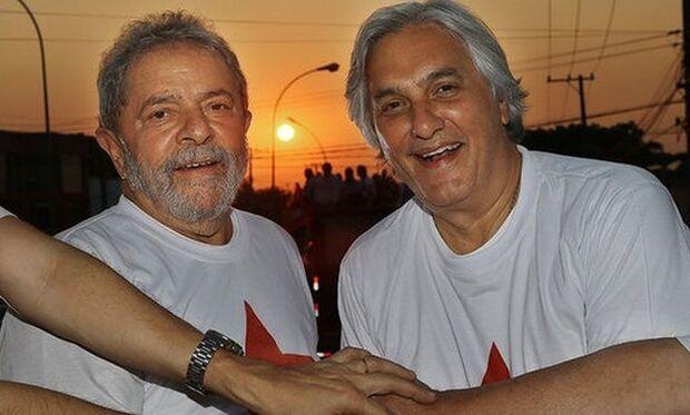 Lula e Delcídio durante campanha ao governo de MS