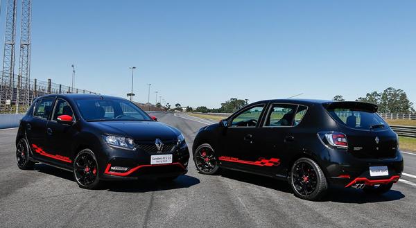 Renault Sandero R.S. Racing Spirit tem realces vermelhos na carroceria (Renault/Divulgação)