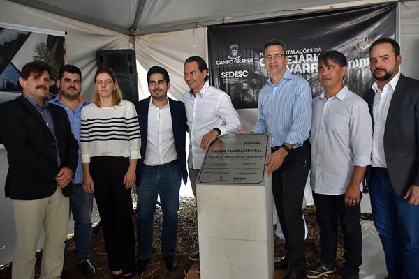 """O lançamento da pedra fundamental da Cervejaria Navarro e a inauguração da nova sede da FertiQuímica Agrociências fizeram parte da segunda edição do projeto """"Sedesc Itinerante"""""""