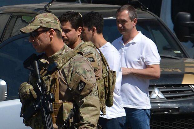 No depoimento aos investigadores do caso, o empresário estava acompanhado de seu advogado, Ticiano Figueiredo