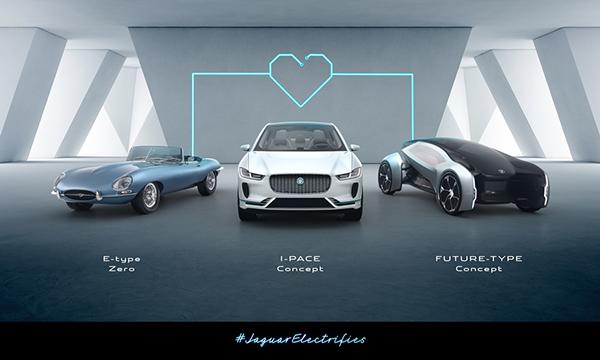 A Jaguar Land Rover demonstrará neste evento a importância da eletrificação ao exibir modelos elétricos da Jaguar do passado, presente e futuro