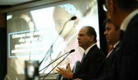 Brasília - O ministro da Saúde, Ricardo Barros, anuncia novo medicamento para tratar diabetes, principalmente em crianças. O produto será ofertado pelo SUS (José Cruz/Agência Brasil)