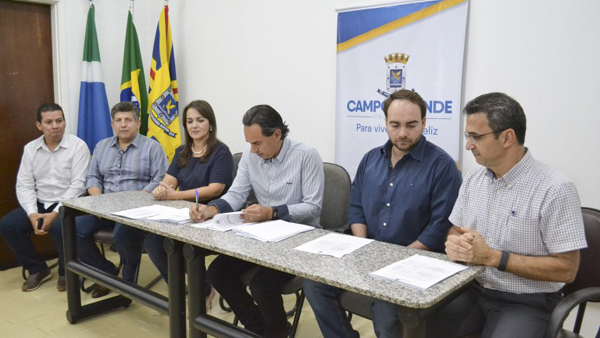 O atual prefeito de Campo Grande, Marcos Marcello Trad, conhecido como Marquinhos Trad
