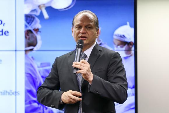 Brasília - O ministro da Saúde, Ricardo Barros, participa de audiência pública nas comissões de Fiscalização Financeira e Controle e de Finanças e Tributação (Marcelo Camargo/Agênc
