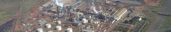 A unidade, com capacidade para moer quatro milhões de toneladas por safra, está em operação desde 2008.