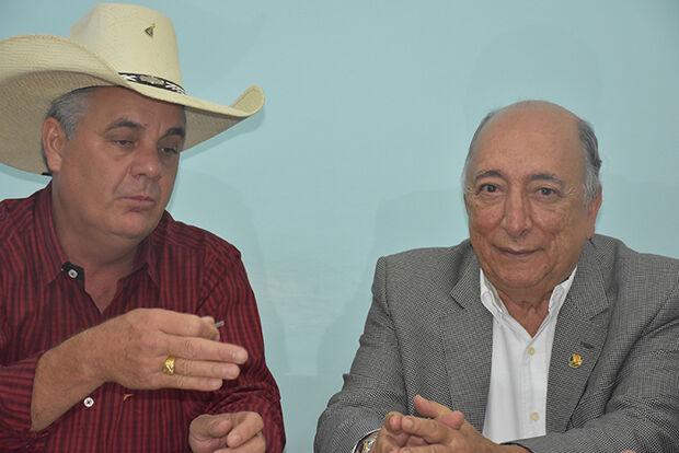 Prefeito Ângelo Guerreiro e o senador Pedro Chaves