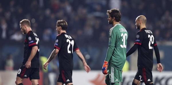 Já classificado à próxima fase da Liga Europa, o Milan entrou com uma escalação alternativa para encarar o frágil Rijeka, na Croácia, e foi castigado nesta quinta-feira.