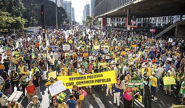O Vem Pra Rua diz que convoca mais uma vez a sociedade brasileira para ir às ruas na defesa da Justiça, em linha com seu histórico de lutas
