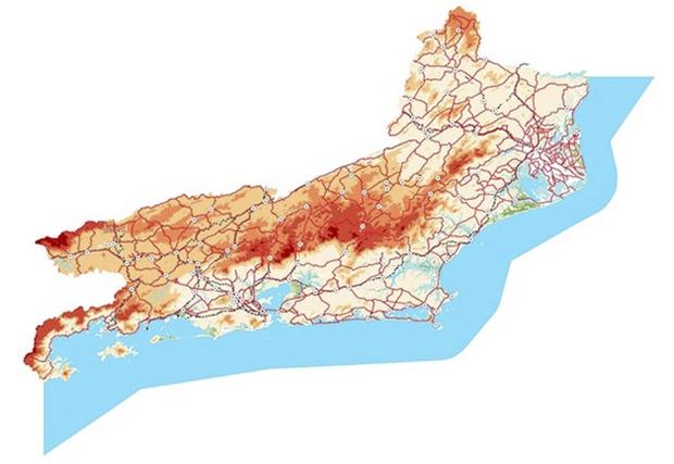 A cartografia foi o primeiro trabalho desenvolvido em escala grande, de 1 por 2 mil, usando as técnicas avançadas de aerolevantamento, e os arquivos setoriais para serem usados em softwares de sistema CAD