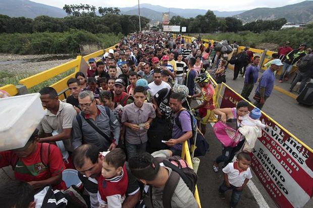 Em alguns dos meses, já vemos um fluxo maior de venezuelanos para a Colômbia que o total mensal que a Itália recebe do norte da África, aponta Millman