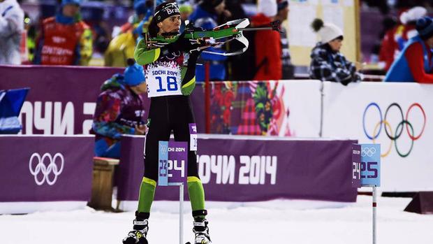 Ao comentar sobre o seu desempenho em Pyeongchang nesta quinta-feira, Jaqueline Mourão comemorou o fato de ter conseguido fazer história ao igualar o recorde de participações olímpicas de outros cinco grandes nomes do esporte brasileiro