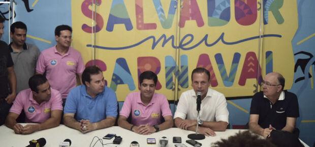 Acompanhando o prefeito paulista na folia baiana, o presidente da Câmara, Rodrigo Maia (DEM-RJ), disse que só vai decidir sobre uma eventual candidatura à Presidência da República entre março e junho