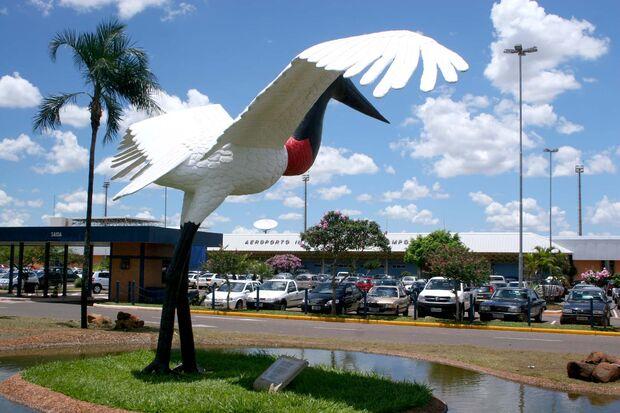 O Aeroporto Internacional de Campo Grande opera normalmente, no começo da manhã desta quarta-feira (14)