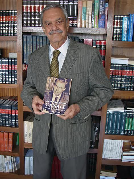 """Letteriello é o autor  de """"Reverenciando Canale: Um marco de bravura moral"""", que será lançado dia 16 de março, às 19h30 na Academia Sul-Mato-Grossense de Letras"""