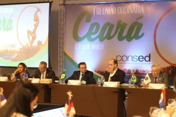 Primeira reunião de 2018 do Conselho Nacional de Secretários de Educação, em Fortaleza