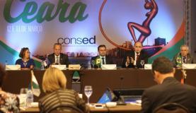 Primeira reunião de 2018 do Conselho Nacional de Secretários de Educação em Fortaleza. Os secretários vão validar o texto da Base Nacional Comum Curricular do Ensino Médio
