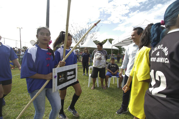 O indígena Adolfo Fonseca Lourenço, do Vivenda do Parque, que ficou em primeiro lugar no Arco e Flecha, acredita que os jogos, além de competição são  também é um resgate cultural