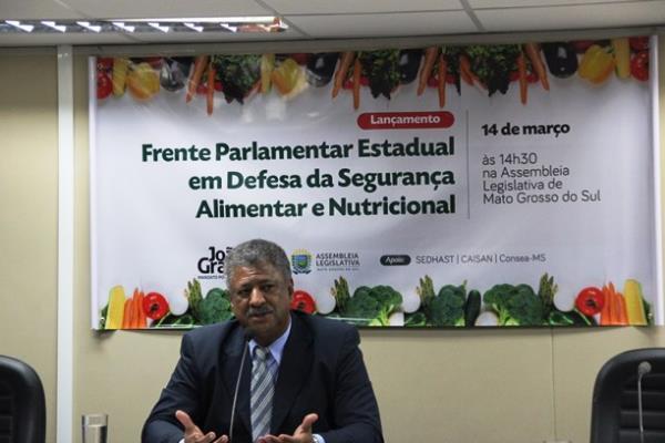 Frente Parlamentar de Defesa da Segurança Alimentar é coordenada pelo deputado João Grandão (PT)
