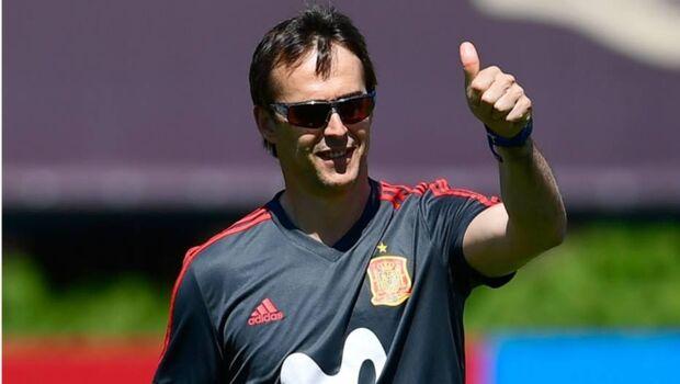 Julen Lopetegui antes de ser demitido da seleção espanhola