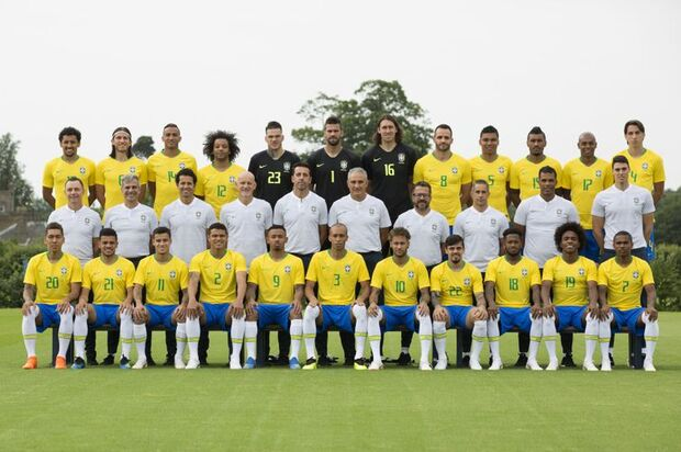 Foto oficial da seleção brasileira para a Copa do Mundo na Rússia/Direitos reservados/Lucas Figueiredo - CBF