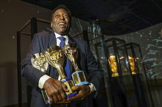 Com três títulos, Pelé é o maior ganhador de Copa do Mundo/Direitos reservados/Divulgação CBF