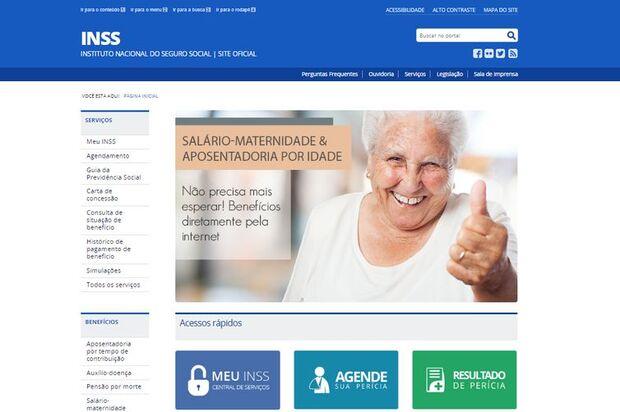 Site do INSS/Previdência Social