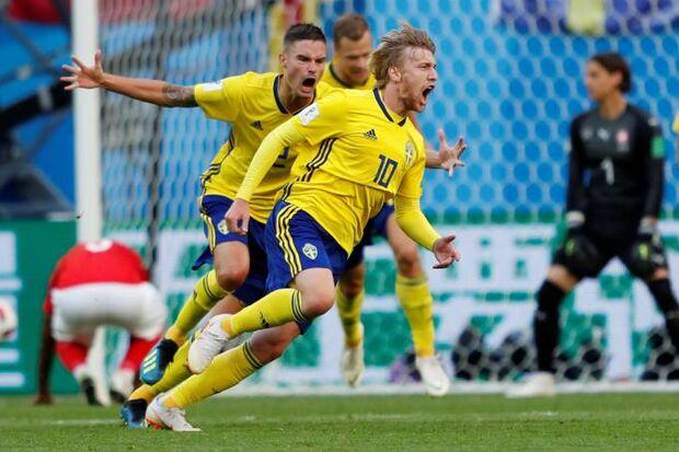 Suécia bate a Suíça e volta às quartas de final da Copa após 24 anos ... 2ad0f43cb73bb