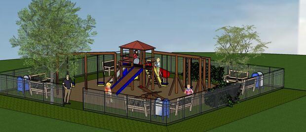 Serão construídos três tipos de playgrounds de acordo com a área disponível em cada praça