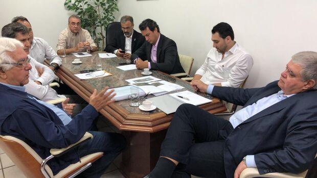 Carlos Marun em renunião com representantes da Prefeitura de Campo GRande e DNIT