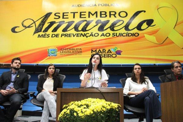 Deputada Mara Caseiro é autora da Lei que instituiu o Setembro Amarelo em Mato Grosso do Sul