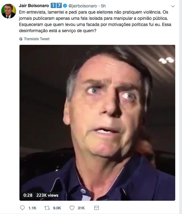 Nas redes sociais, Bolsonaro ressaltou ter defendido penas mais severas contra crimes passionais, independentemente da orientação sexual da vítima