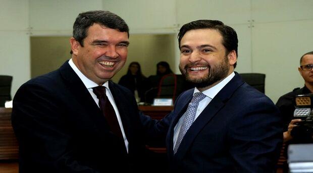 O secretário Eduardo Riedel representou o governador Reinaldo Azambuja na solenidade de posse do advogado Daniel Costa no TRE/MS