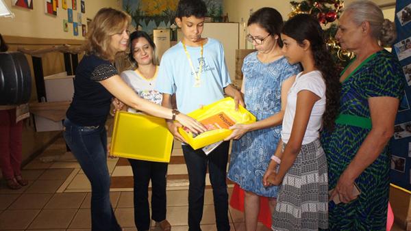 A avaliação para os alunos foi dividida em níveis. Ensino fundamental (três), Ensino médio (um), com dez perguntas cada