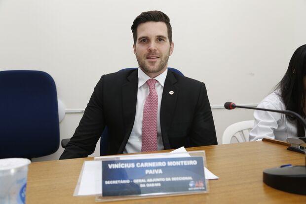 O Conselheiro Federal Vinícius Monteiro Paiva foi nomeado nessa terça-feira