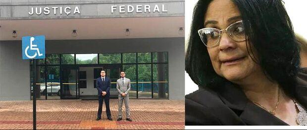 Advogados José Belga Trad e Fábio Brandão acionaram a Justiça Federal em MS contra a ministra Damares