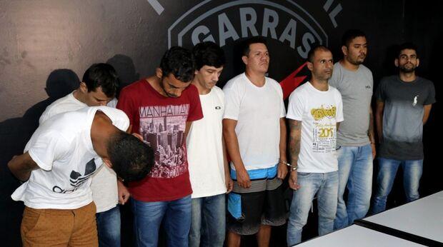 Ao todo, oito criminosos foram apresentados pela Especializada e encontram-se presos na sede do GARRAS.