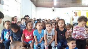 As crianças do EMEI  Zacarias Vieira de Andrade, no Rita Vieira.