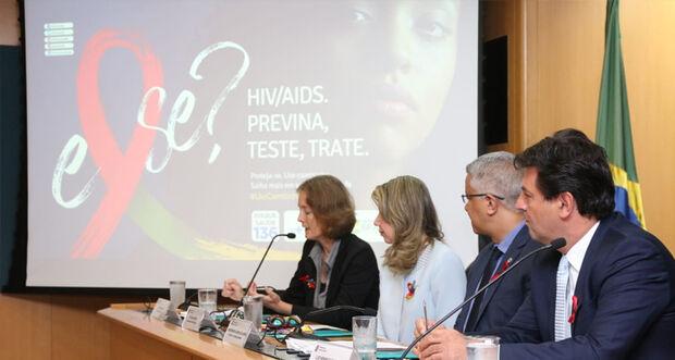 A nova Campanha de Prevenção ao HIV/aids foi lançada pelo ministro da Saúde, Luiz Henrique Mandetta, nesta sexta-feira (29), em Brasília (DF)