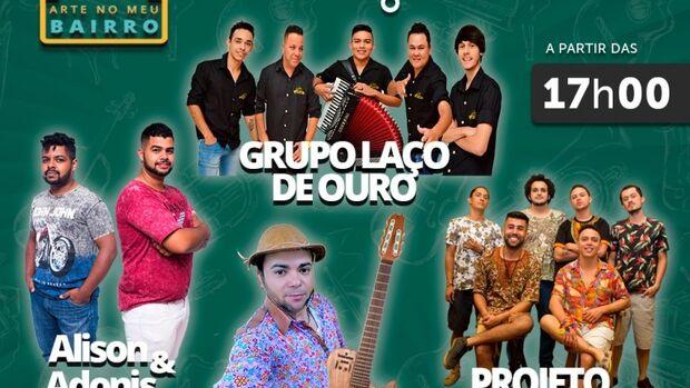 Se apresentam no local o Grupo Laço de Ouro, Alison e Adonis, Ronaldo Raimundo e Projeto Kzulo