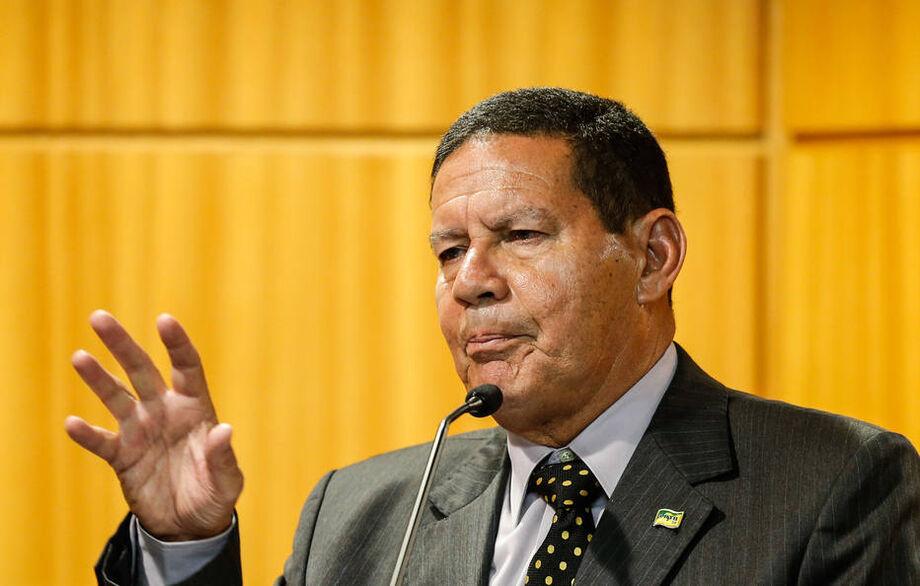 O vice presidente da República, general Hamilton Mourão