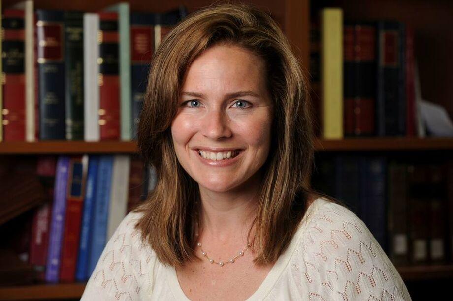 A juíza conservadora Amy Coney Barrett, nomeada para a Suprema Corte pelo presidente Donald Trump
