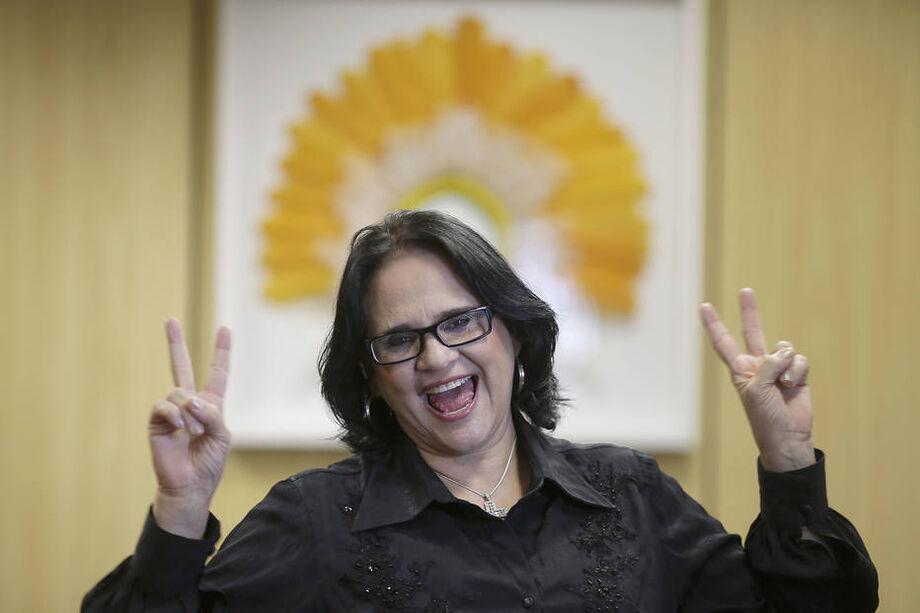 Damares Alves, a ministra da Mulher, da Família e dos Direitos Humanos