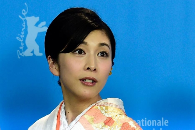 A atriz Yuko Takeuchi no 66º Festival de Cinema de Berlim, em 2016
