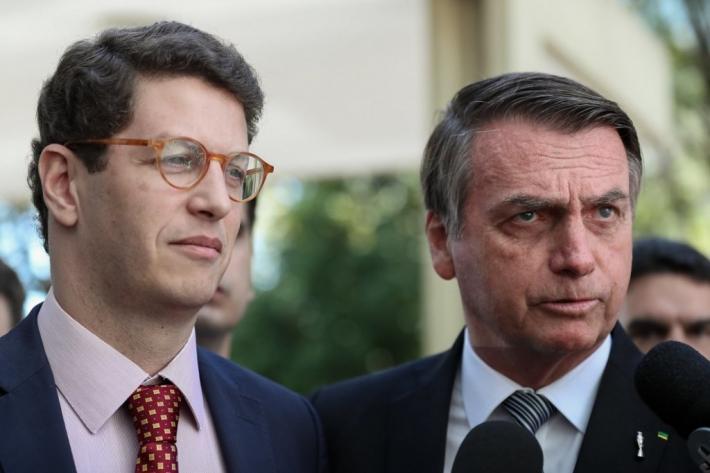 O ministro do Meio Ambiente Ricardo Salles e o presidente Jair Bolsonaro