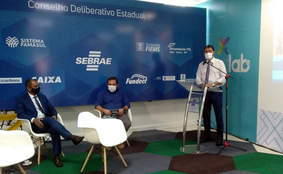 Sérgio Longen, durante o lançamento do guia Seja um Candidato Empreendedor - Eleições 2020