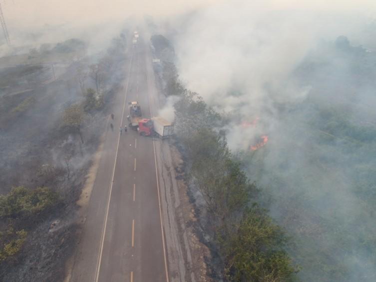 No momento do acidente, fumaça das queimadas prejudicava a visibilidade